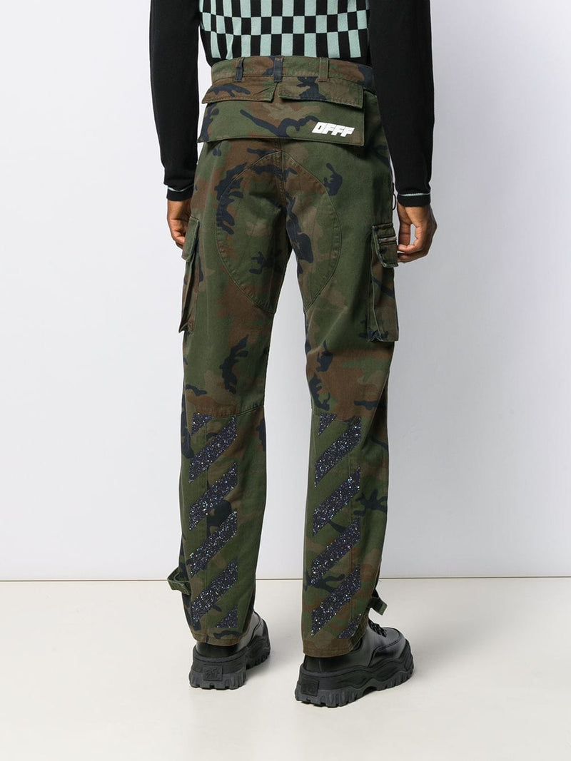 OFF WHITE MEN INCOMPIUTO CAMOU CARGO PANT ALL OVER