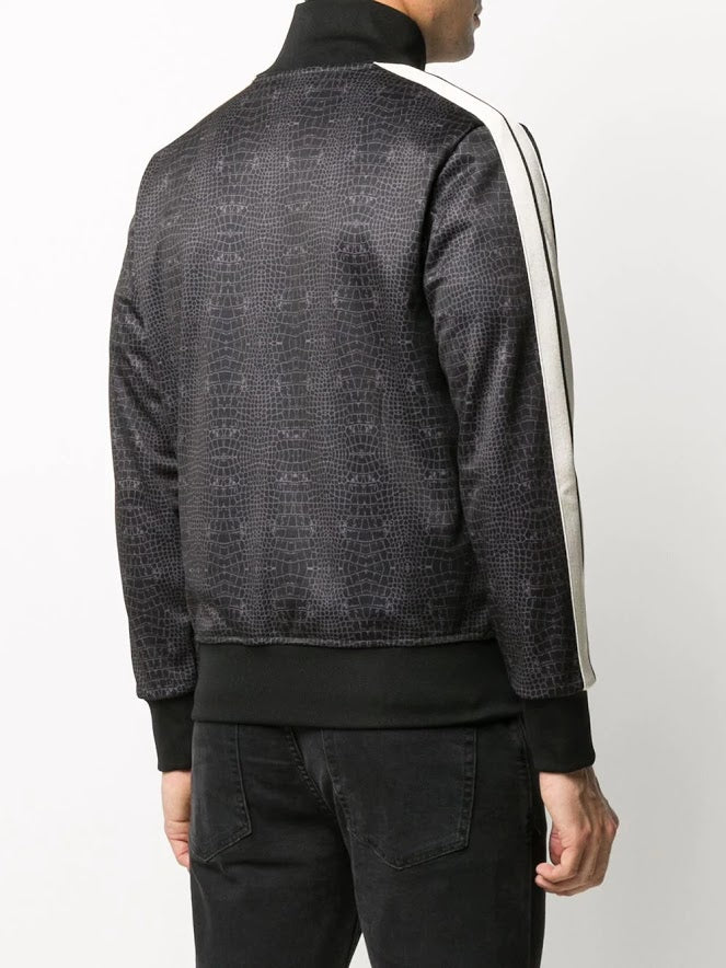PALM ANGELS MEN CROCO TRACK JACKET