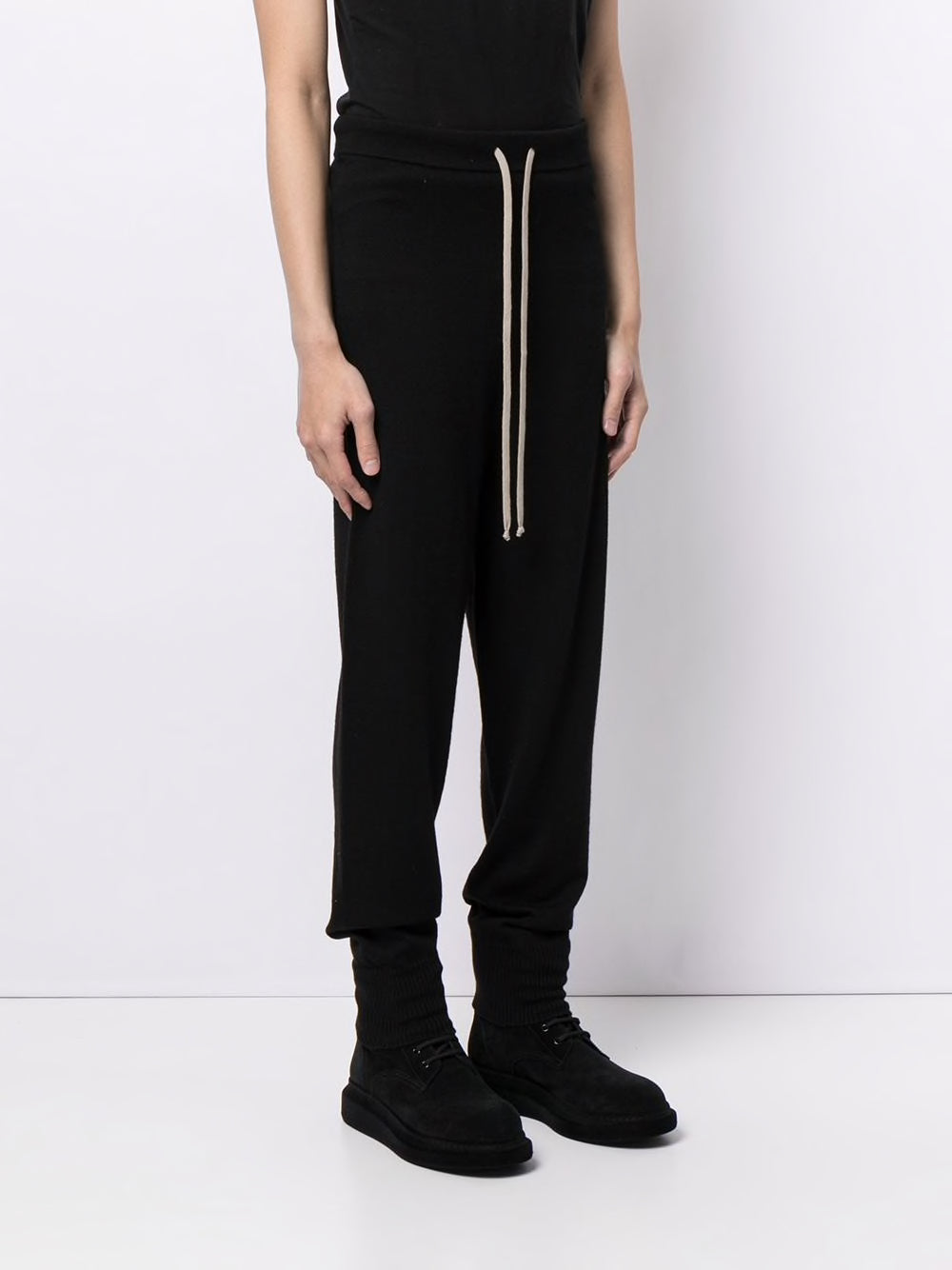 RICK OWENS MEN MERINO WOOL TRACK PANTS