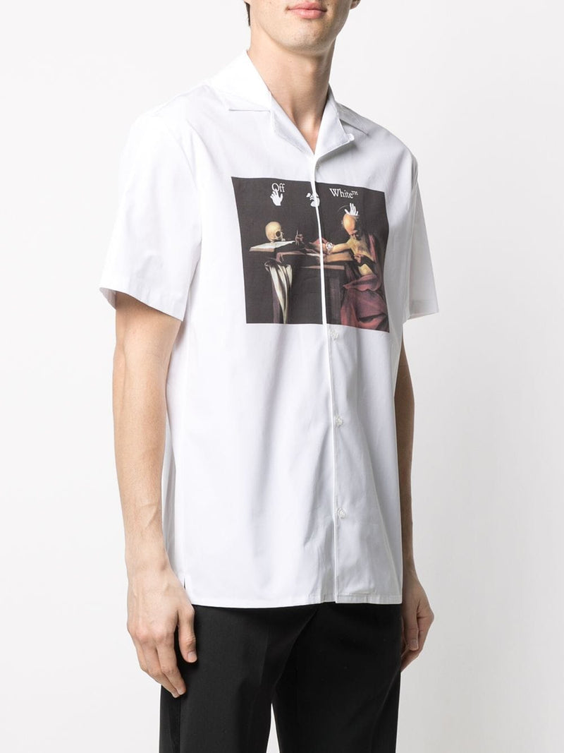 OFF-WHITE MEN CARAVAGGIO HOLIDAY SHIRT