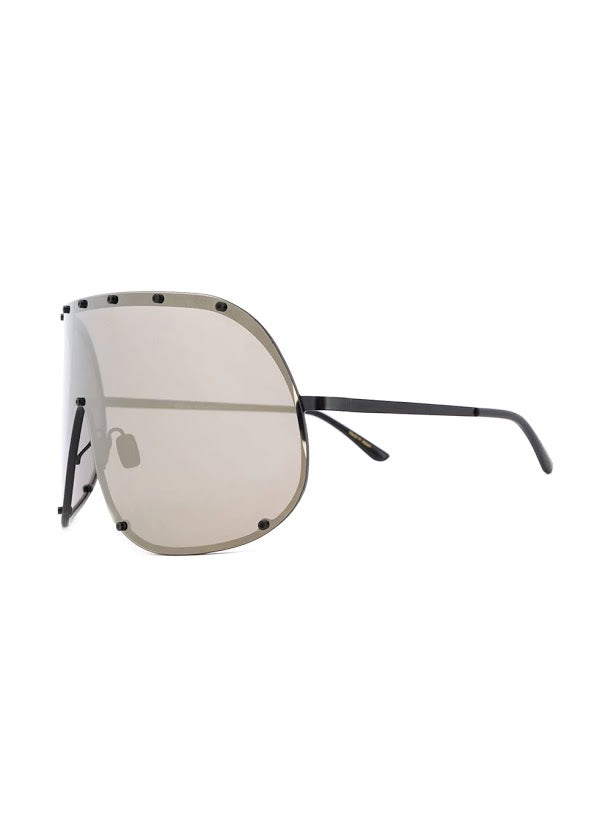 RICK OWENS SHIELD SUNGLASSES GBLKG