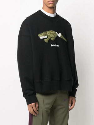 PALM ANGELS MEN CROCO CREWNECK