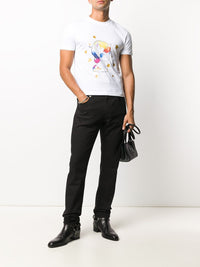 VETEMENTS UNISEX HEARTBREAKER UNICORN CROPPED T-SHIRT