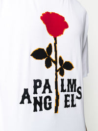 PALM ANGELS MEN ROSE BOXY TEE