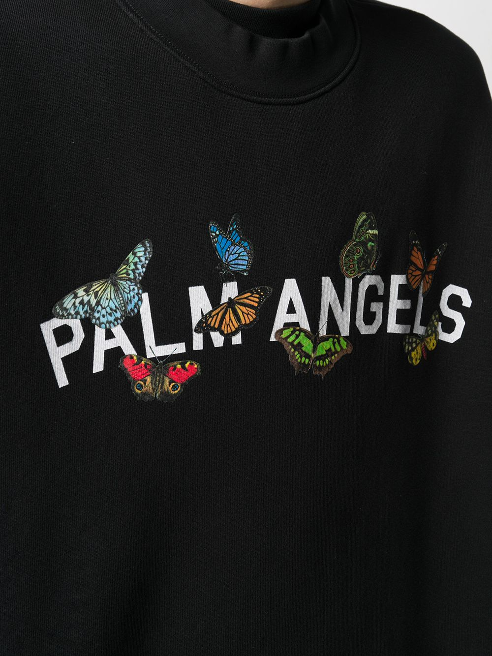 PALM ANGELS MEN BUTTERFLY COLLAGE SWEATSHIRT
