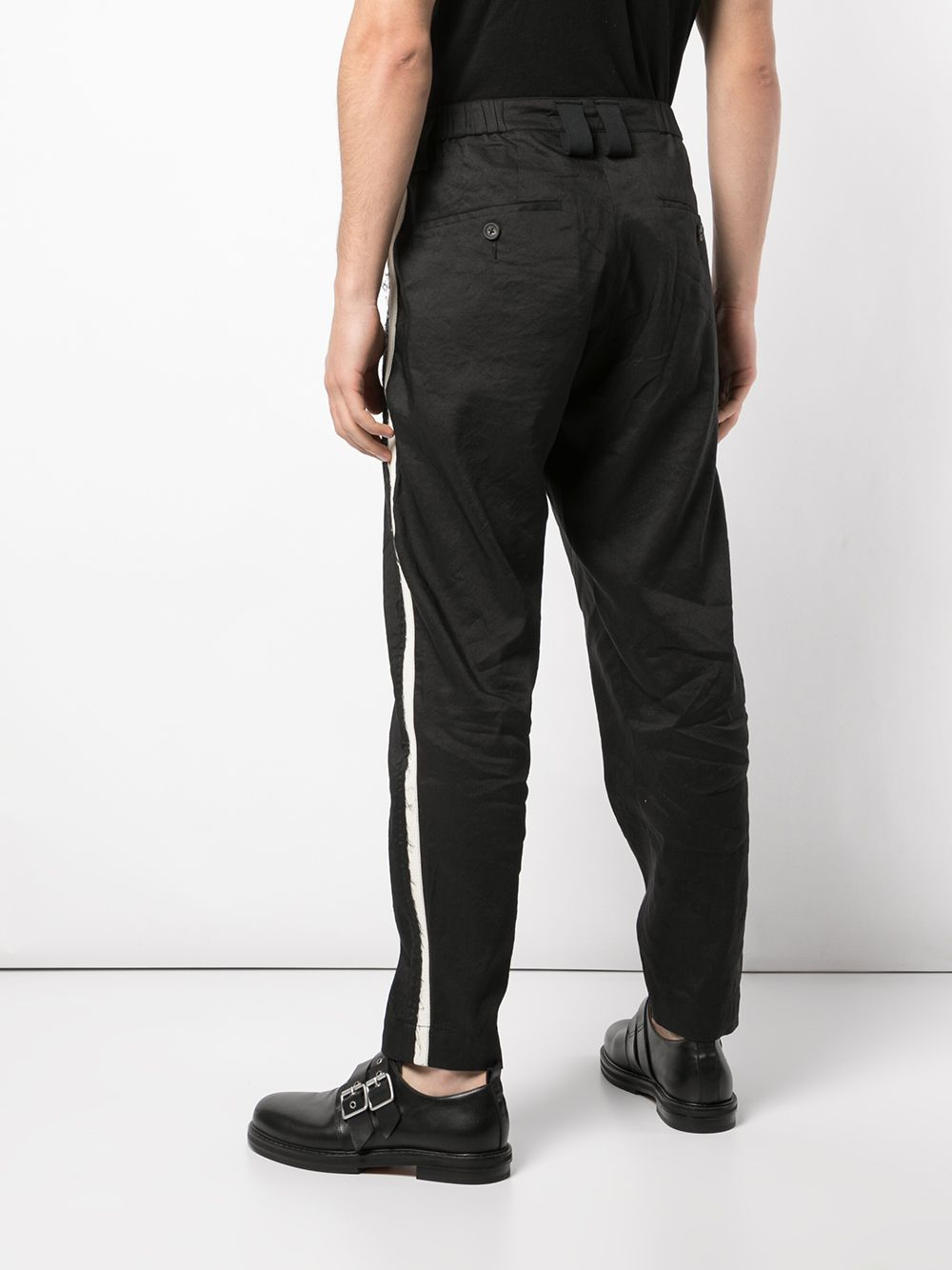 ZIGGY CHEN MEN CONTRAST BAND PANTS
