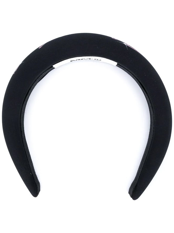 MM6 WOMEN LOGO PRINTED HAIR BAND