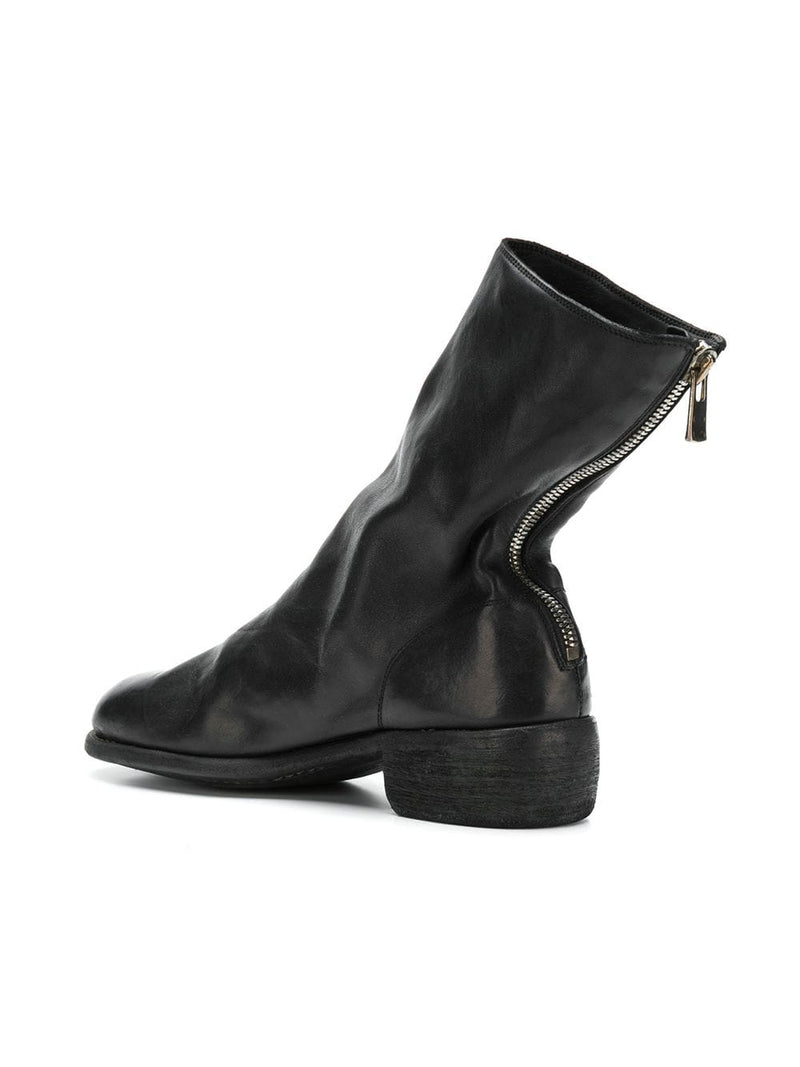 GUIDI 788 MEN HORSE LEATHER BACK ZIP BOOT