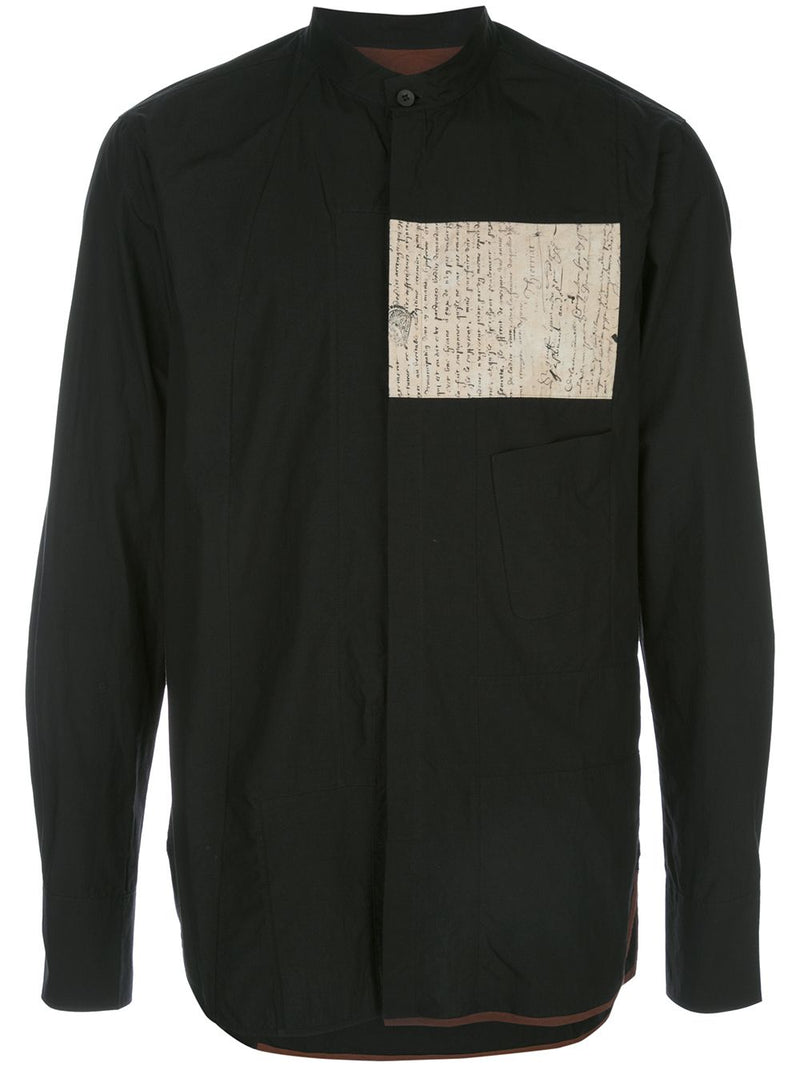 ZIGGY CHEN MEN LETTER PATCH SHIRT