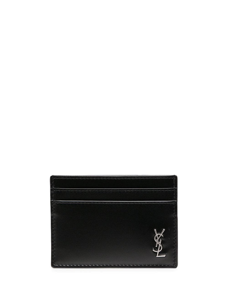 SAINT LAURENT LOGO PLAQUE CARDHOLDER
