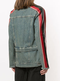 MARTINE ROSE WOMEN DOUBLE HEM DENIM JACKET