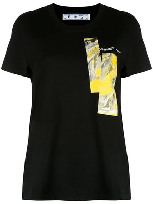 OFF WHITE WOMEN MIXED PAINTING CASUAL TEE