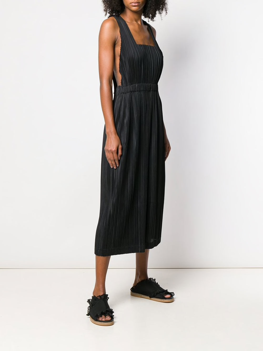 PLEATS PLEASE ISSEY MIYAKE WOMEN SLEEVELESS JUMPSUIT