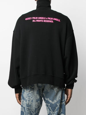 PALM ANGELS MEN PALM X PALM TURTLENECK SWEATSHIRT