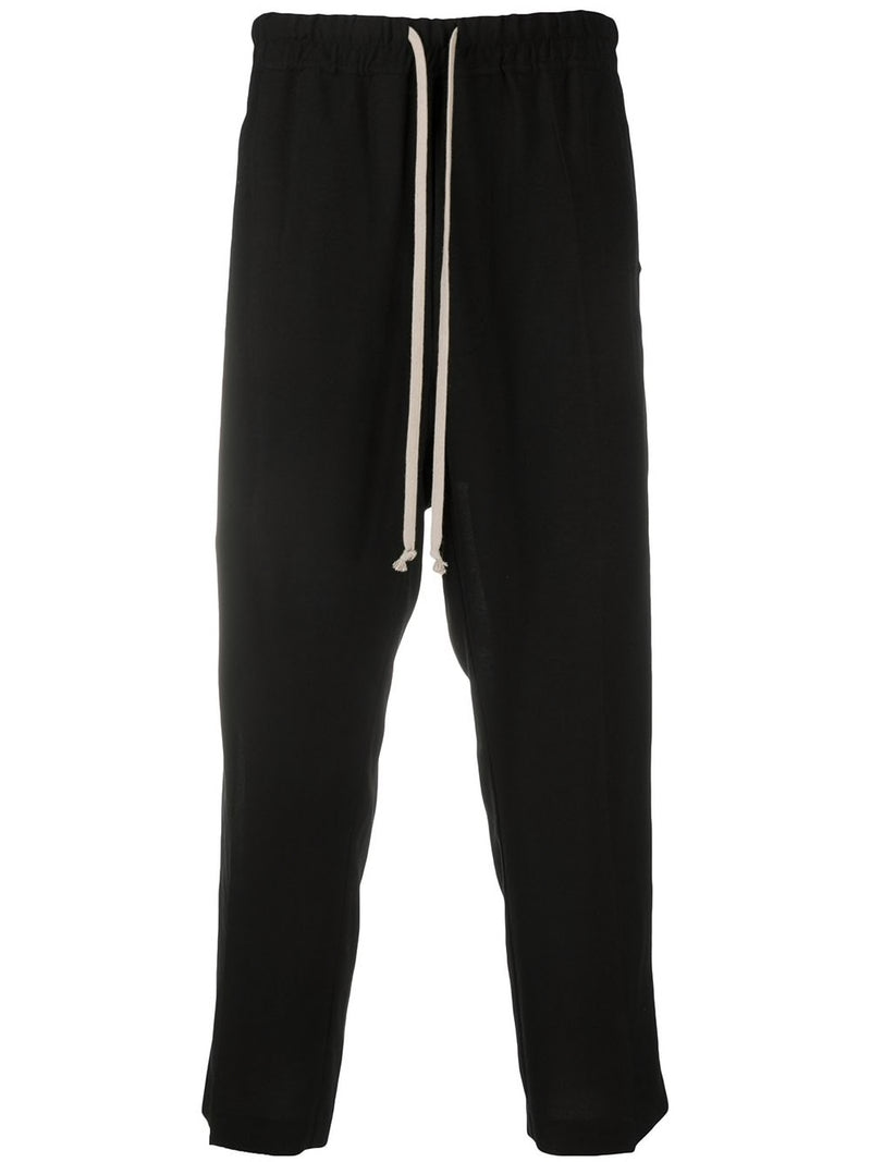 RICK OWENS MEN DRAWSTRING SLIM ASTAIRES CROPPED TROUSER