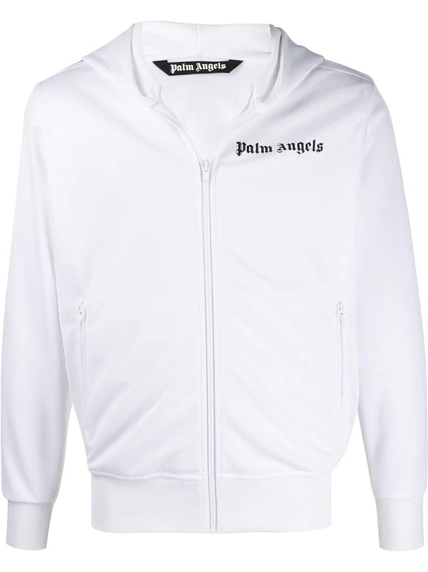 PALM ANGELS MEN HOODED TRACK JACKET