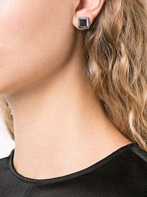 GUIDI EARRING WITH HORSE LEATHER DETAILS