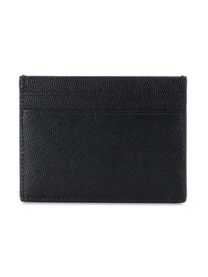 SAINT LAURENT FULL GRAIN LEATHER CREDIT CARD CASE