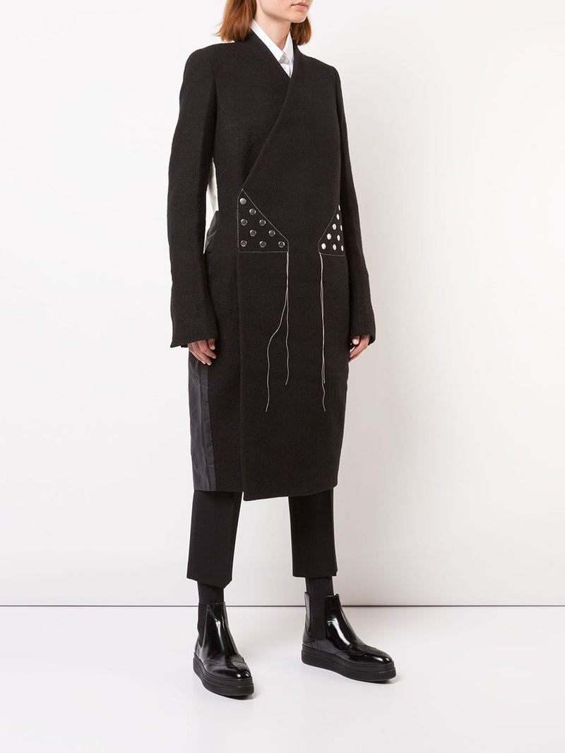 RICK OWENS WOMEN SNAP COAT