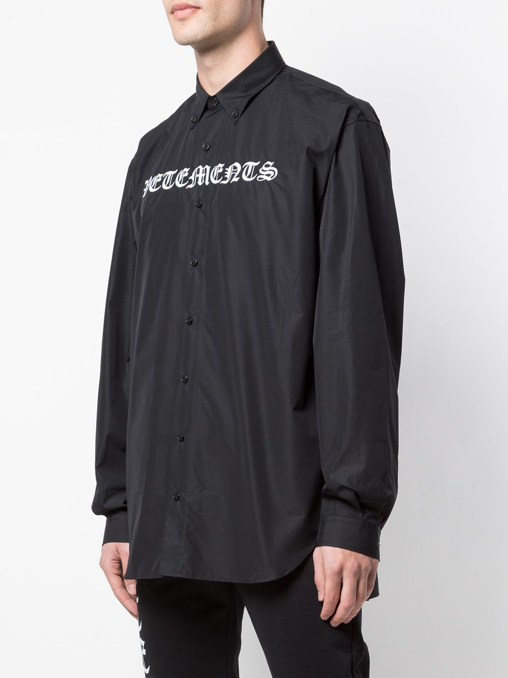 VETEMENTS UNISEX GOTHIC VETEMENTS SHIRT