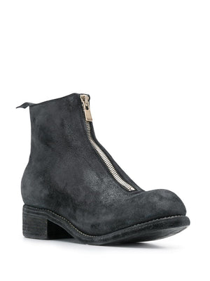 GUIDI MEN PL1 COATED LEATHER BOOTS
