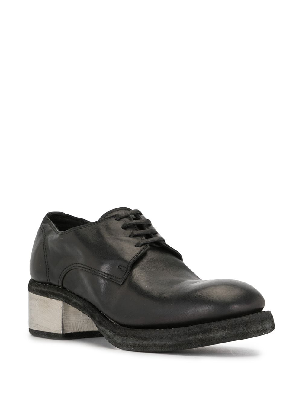 GUIDI WOMEN 792ZI SOFT HORSE LEATHER CLASSIC DERBY WITH METAL HEEL
