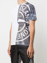 STONE ISLAND MEN LOGO PRINTED T-SHIRT