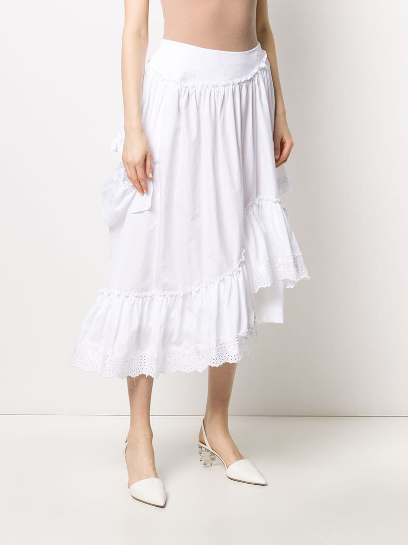 SIMONE ROCHA WOMEN ASYMMETRIC FRILL SINGLE BITE SKIRT