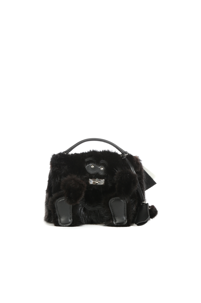 READYMADE VINTAGE FUR COAT MINI MONSTER BAG