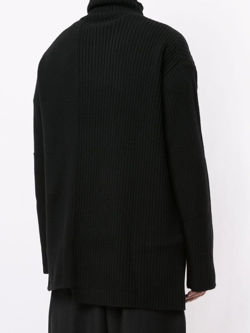 YOHJI YAMAMOTO POUR HOMME MEN COLLAR DOUBLE TURTLE SWEATER