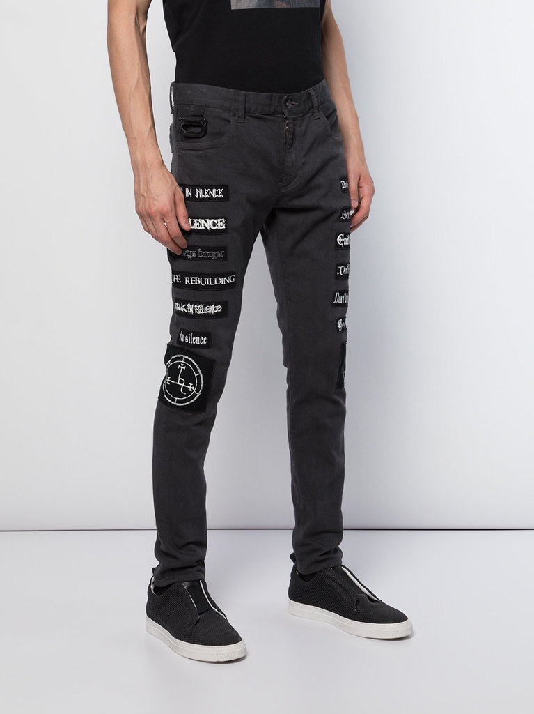 UNDERCOVER MEN BAND PATCHES DENIM