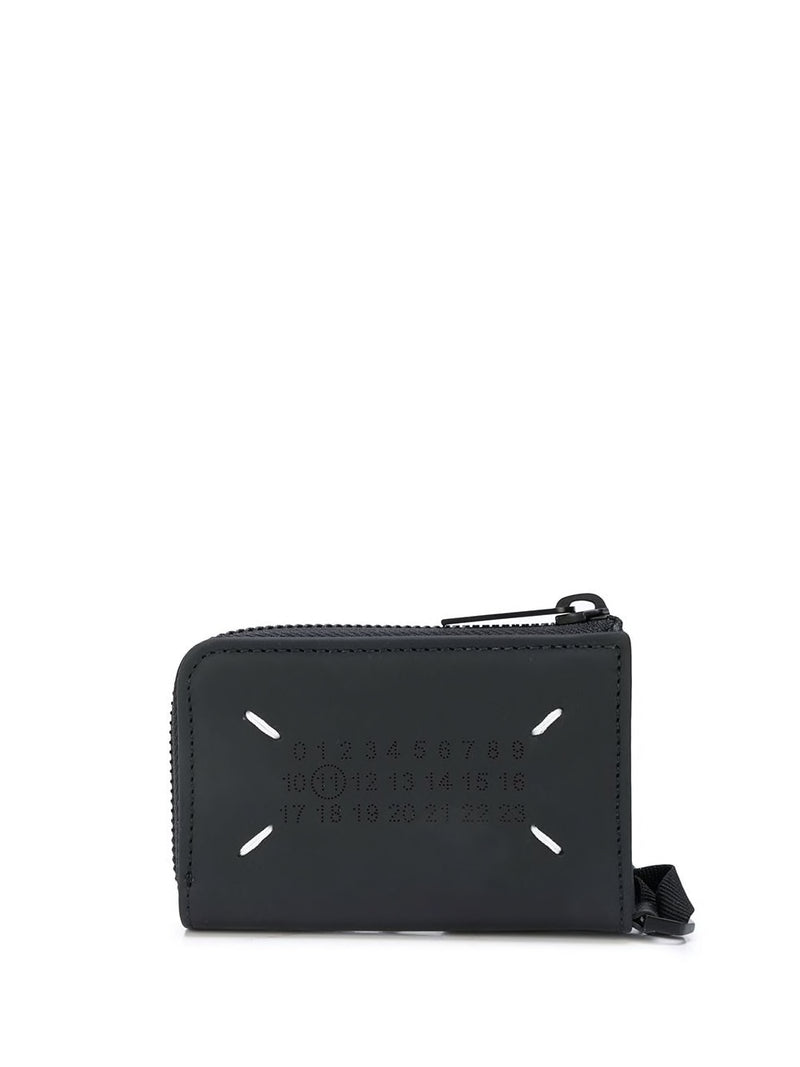 MAISON MARGIELA LOGO STITCH RUBBERIZED WALLET