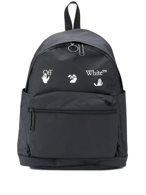 OFF-WHITE MEN OW LOGO PVC BACKPACK