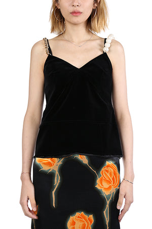 MERYLL ROGGE WOMEN SLIP TOP WITH JEWEL STRAPS