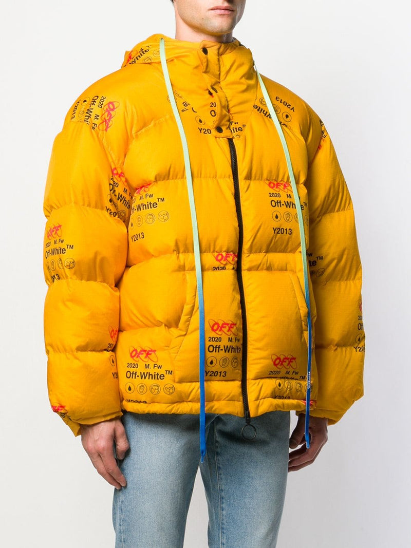 OFF WHITE MEN INDUSTRIAL ZIPPED PUFFER