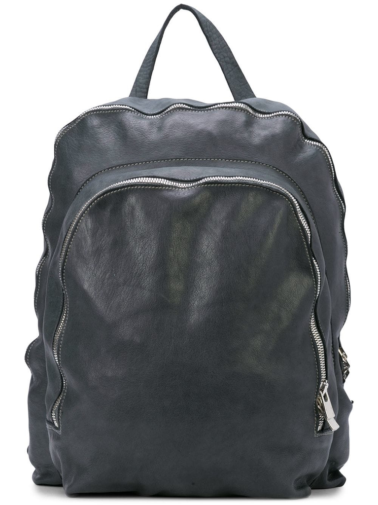 GUIDI SOFT HORSE LEATHER 2 ZIP BACKPACK