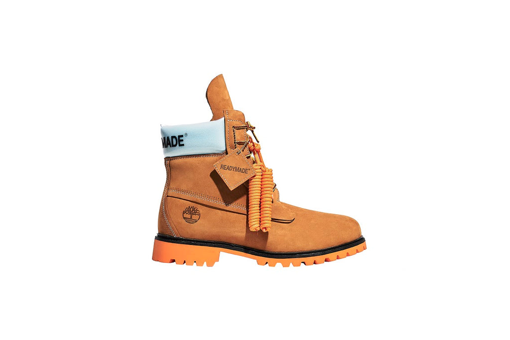 "READYMADE X TIMBERLAND MEN 6"" PREMIUM BOOT WHEAT NUBUCK"