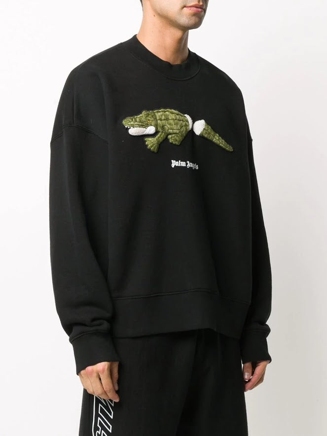 PALM ANGELS MEN CROCO CREW