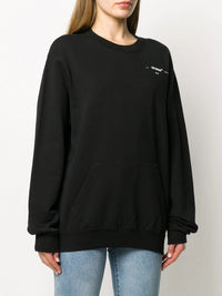 OFF-WHITE WOMEN CORALS PRINT REGULAR CREWNECK BLACK WHITE