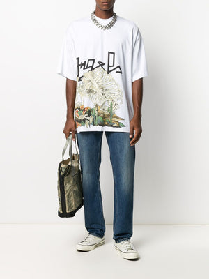 PALM ANGELS MEN DESERT SKULL OVER TEE
