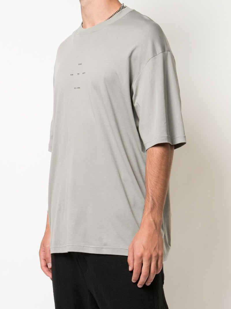 SONG FOR THE MUTE MEN LOGO OVERSIZED TEE
