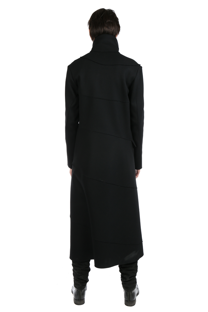 MA+ MEN UNLINED EXTRA LONG SPIRAL BODY COAT