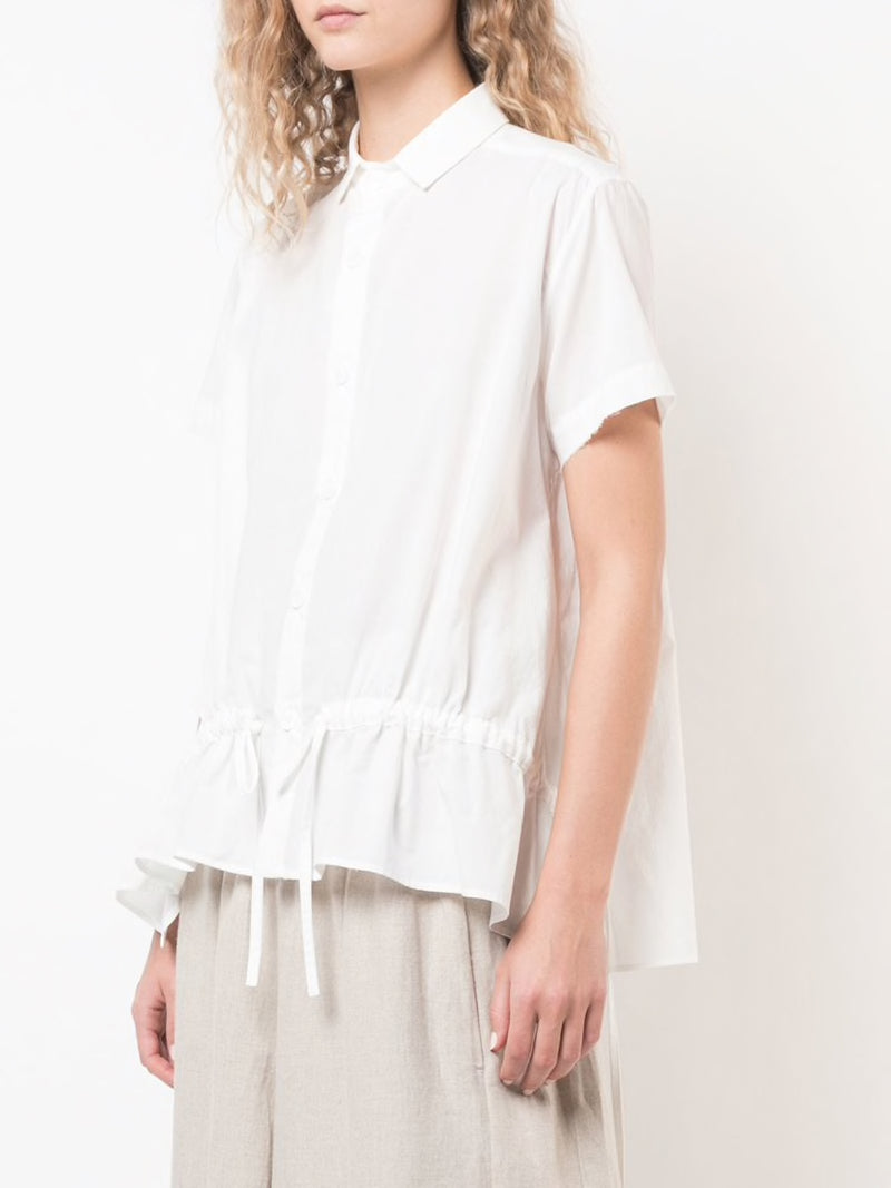 Y'S WOMEN FRILL GATHER BLOUSE
