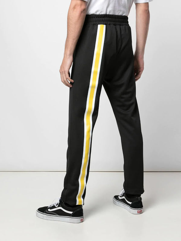 PALM ANGELS MEN MONOGRAM SLIM TRACK PANTS