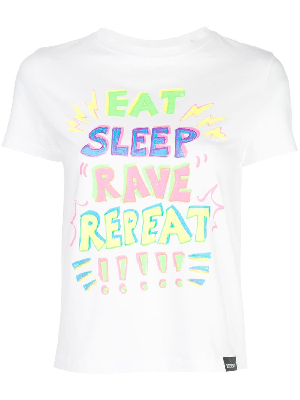 VETEMENTS WOMEN EAT SLEEP RAVE REPEAT T-SHIRT