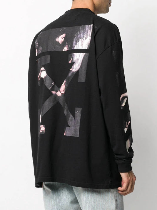 OFF-WHITE MEN CARAVAGGIO ARROW OVER MOCKNECK