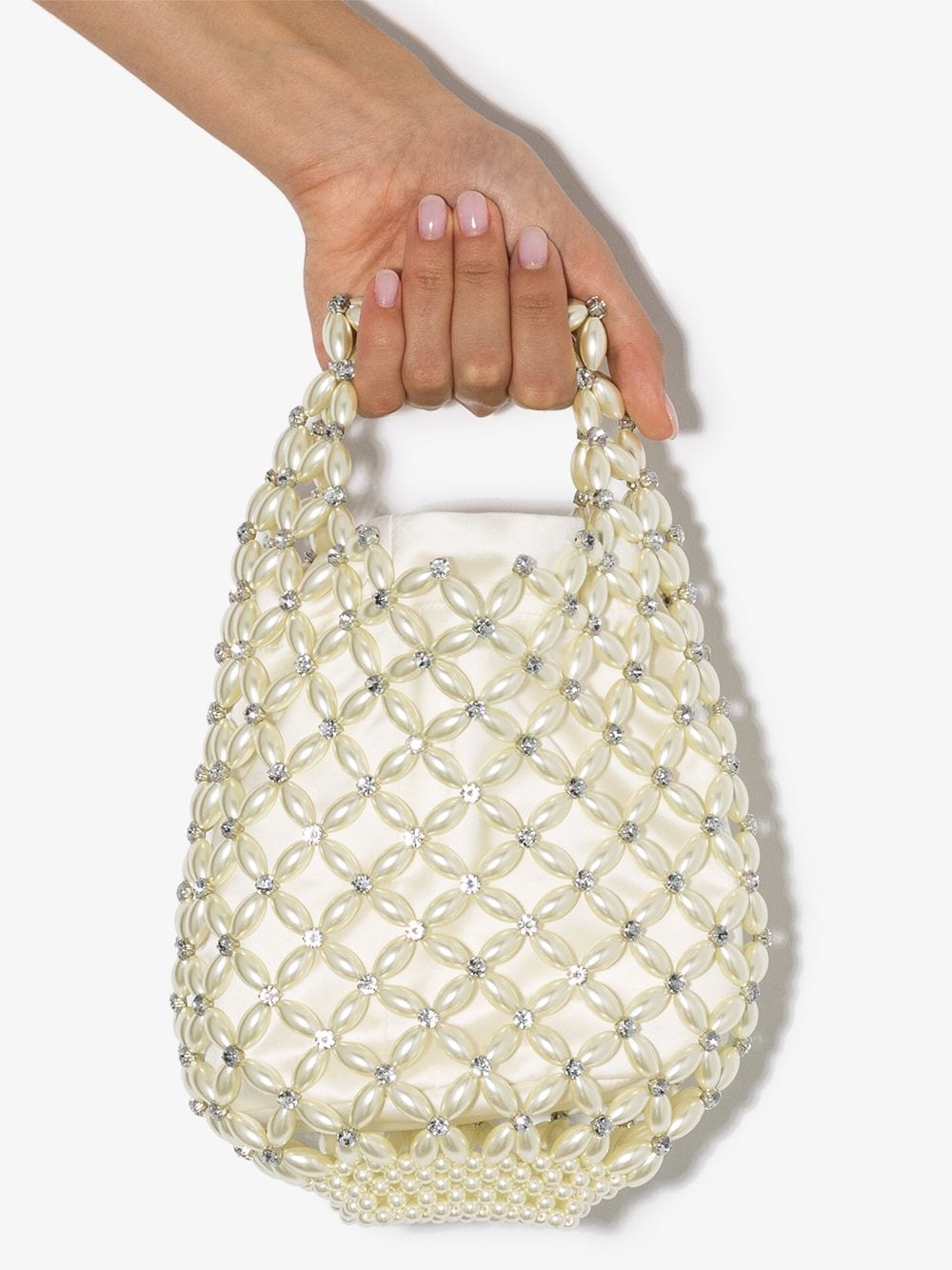 SIMONE ROCHA WOMEN SMALL BEADED SHOPPER BAG 0906