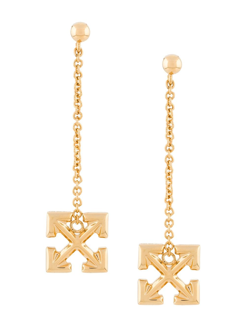 OFF-WHITE PENDANT EARRINGS ARROW