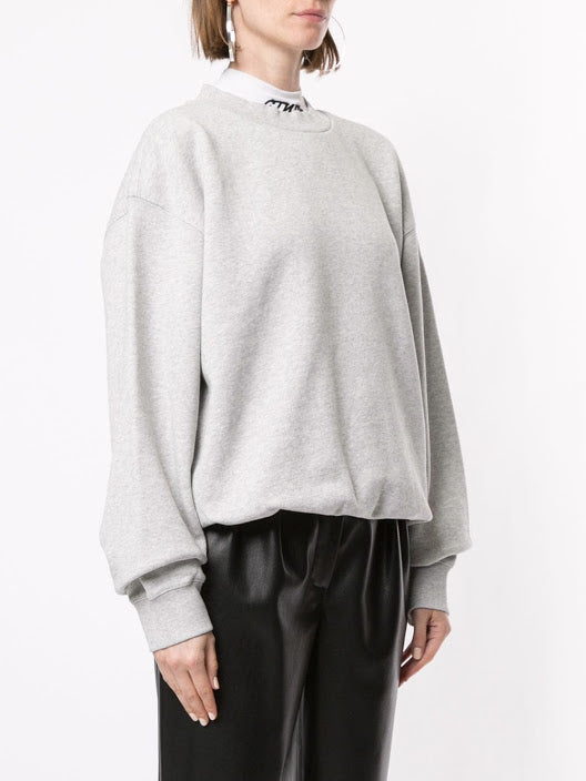 ALEXANDER WANG WOMEN HEAVY FRENCH TERRY CREWNECK