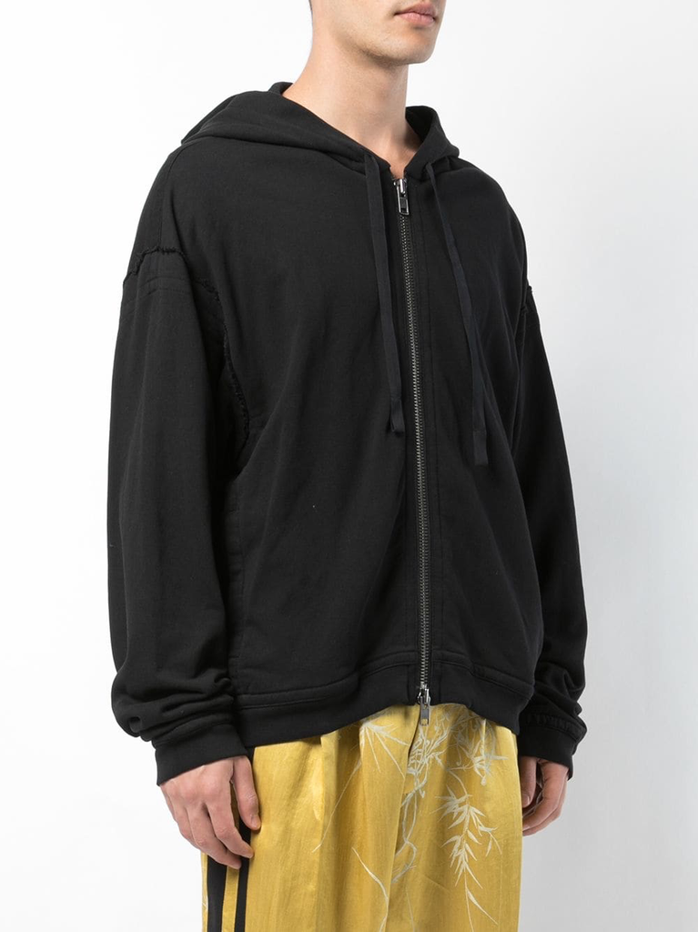 HAIDER ACKERMANN MEN PRINTED ZIP UP HOODIE
